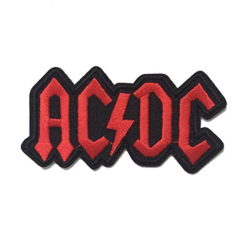 coolpart ACDC AC/DC Rock Band Logo musica heavy metal punk band Logo Patch Sew Ferro Su Logo ricamato cartello costume regalo perfetto cerotti