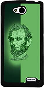 PrintVisa Abstract Lincoln Face Case Cover for LG L90
