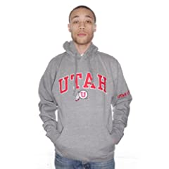 NCAA Utah UTES Gray Hooded Sweatshirt College Hoodie (29A) by J. America