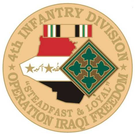 NEW U.S. Army 4th Infantry Division O.I.F. Pin