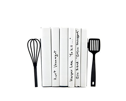 Kitchen Bookends // Spatula and whisk // functional modern kitchen decor // housewarming present // FREE WORLDWIDE SHIPPING //