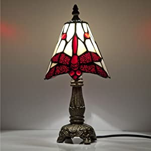 small dragonfly jewelled glass tiffany shade table lamp. Black Bedroom Furniture Sets. Home Design Ideas