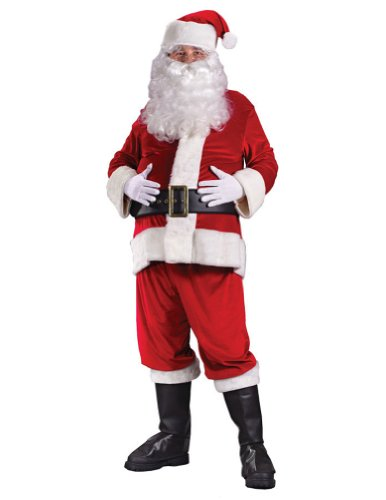 Santa Suit Rich Velvet Christmas Costume - Most Adults