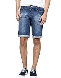 Zess Men's Denim Shorts (8903862962016_Blue_36)