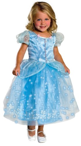 Child's Crystal Princess Costume with Fiber Optic Light Twinkle Skirt - Small