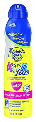 Banana Boat Sunscreen Kids Ultra Mist Tear-Free Sting Free Broad Spectrum Sun Care Sunscreen Spray - SPF 50, 6 Ounce - 1