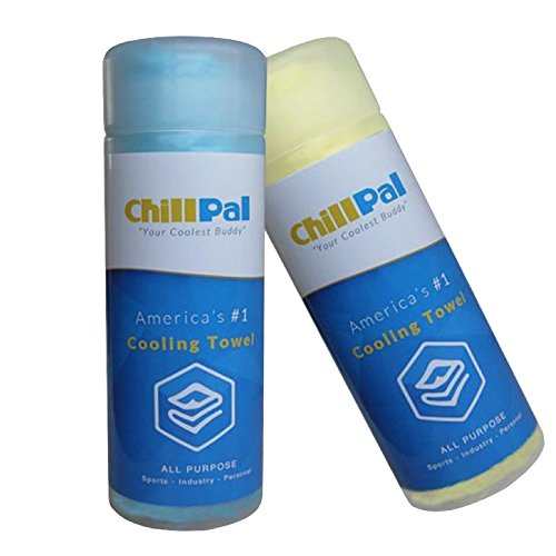 Sweat Towel On Neck: Chill Pal (Blue) PVA Cooling Towel Stay Cool Towel Cold