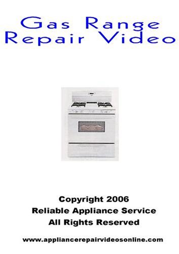 Gas Range Repair Video