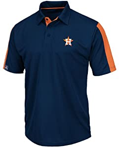 Houston Astros Career Maker MLB Synthetic Polo Shirt by Majestic by Majestic