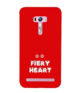 EPICCASE fiery heart Mobile Back Case Cover For Asus Zenfone Selfie (Designer Case)