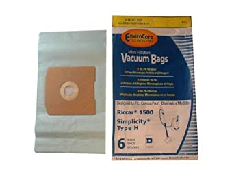 Riccar RC-1500 Canister Filter Vacuum Bag Antimicrobal Also will Fit Riccar 1...