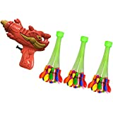Toygully Combo Of Playful/Fun Holi Pistol Pichkari For Kids And 60 Seconds Fill & Automatic Tie Multi Colored...