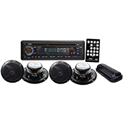 See PYLE PLCD4MRKT Marine Single-DIN In-Dash 4-Speaker CD/USB/MP3/Combo Receiver with Stereo Cover Details