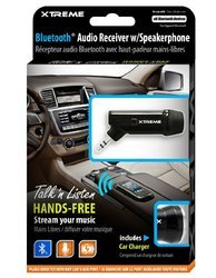 Xtreme Bluetooth Audio Receiver With Mic & Car Charger (51920)