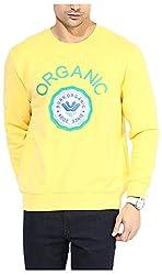 UV&W Men's Fleece Sweatshirt (MFTCK24_S_Gold, Gold Small)