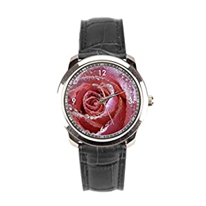 sanYout Vintage Wrist Watch Flower Leather Band Watches Rain Watch Leather Strap Waterdrops