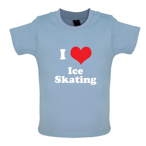 I Love Ice Skating - Baby / Toddler T-Shirt - Dusty Blue - 18-24 Months