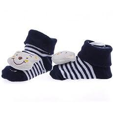 EOZY Smile Bear Baby Unisex Floor Indoor Anti-slip Socks Animal Booties