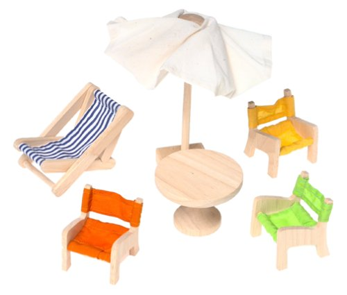 Plan Toys 73161: Patio (Wooden Dollhouse Furniture)