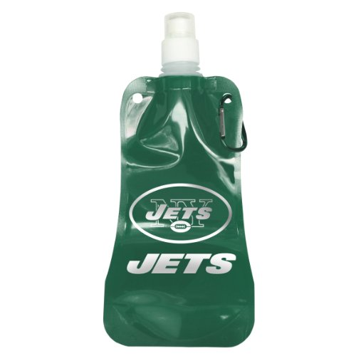 NFL New York Jets Foldable Water Bottle-Pack of 2, Green
