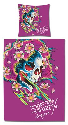ED HARDY Bettwäsche Baumwolle Beautiful Ghost, pink