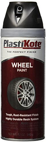 PlastiKote 620 Semi-Gloss Black Wheel Paint - 12 Oz. (Chrome Wheel Touch Up Paint compare prices)