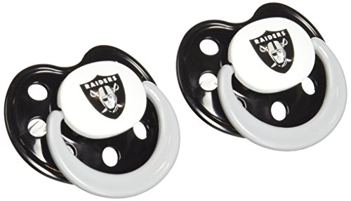 NFL Oakland Raiders 2 Pack Pacifier - 1