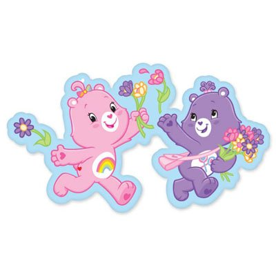 Care Bears Picking Flowers Vynil Car Sticker Decal - Select Size front-644424