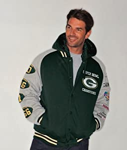 NFL Packers Champ Jacket Hooded by G-III Sports