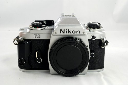 Best Deals! Nikon FG SLR film camera in chrome body