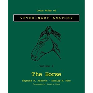 Color Atlas Veterinary Anatomy: Volume 2, The Horse (Color Atlas of Veterinary Anatomy) [Paperback]