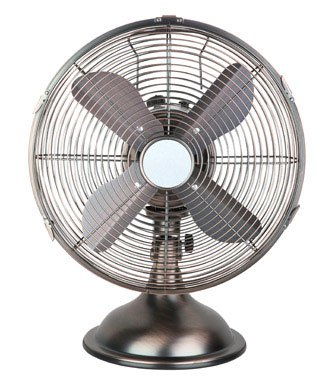Pelonis Retro Table Fan Oscillating 12 In. 3 Speed