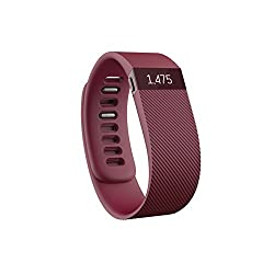 Fitbit Charge Wireless Activity Tracker and Sleep Wristband, Large (Burgundy)