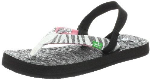 Sanuk Kids Yoga Wildlife Td Dress Sandal (Toddler/Little Kid),Zebra,Small/10-11 M Us Little Kid front-481923