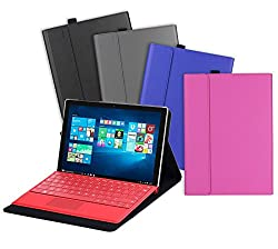Valkit Microsoft Surface Pro 4 Case, Surface pro 4 type cover, Surface Pro 4 Tablet PU Leather Folio protective Stand Cases Covers bag Skin Compatible with Surface Original Keyboard .(Black Color)