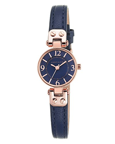 anne-klein-orologio-da-donna-al-quarzo-con-display-analogico-e-cinturino-in-pelle-colore-blu-navy-n2