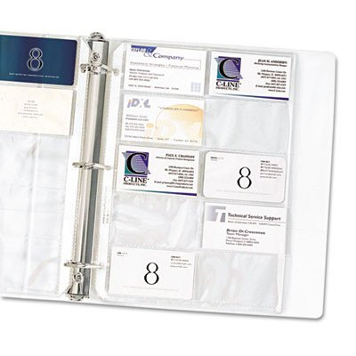 C-Line 61217 Business Card Binder Pages  20 3-1/2 Cards per