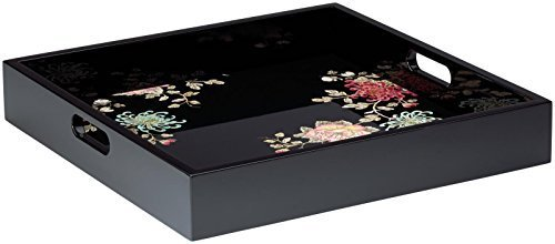 Marchesa Painted Camellia Lacquer Tray By Marchesa