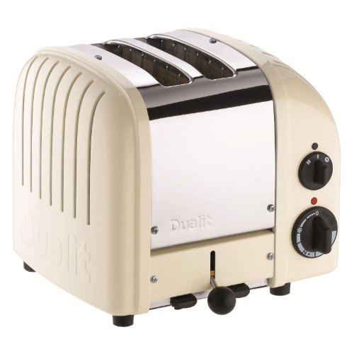 Dualit 2 Slice Classic Toaster, Canvas White