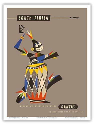 sudafrica-tambor-africano-nativo-qantas-empire-airways-cet-la-aerolinea-viaje-por-harry-rogers-c1960