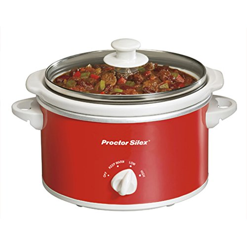 Proctor Silex Portable Oval Slow Cooker 1.5-Quart