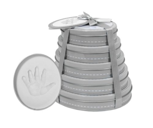 Child to Cherish Handprint Tower of Time Oval, Grey