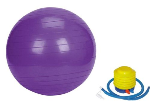 Sivan Health & Fitness Yoga Stability Ball and Pump, Purple, 55cm