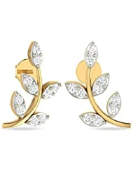 WearYourShine By PC Jeweller The Nelda Collection 18k Yellow Gold And Diamond Stud Earrings