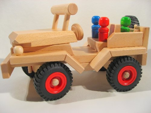 Fagus Wooden Jeep - Made in Germany