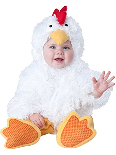 InCharacter Baby's Cluckin' Cutie Chicken Costume, White