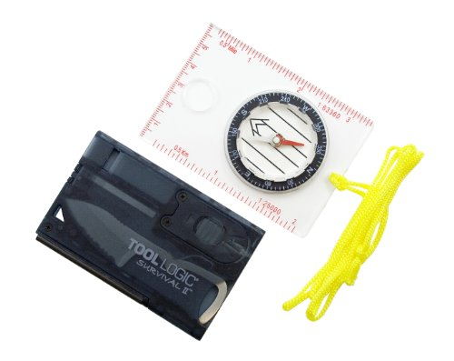 Tool Logic CX33-T Survival Card Combination with Light and F