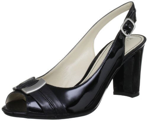 Naturalizer Carlie Black Shiny Open Toe B6285 6 UK