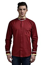 Future Plus Men's Party Wear Shirt FPWC013-01-MR-40__40