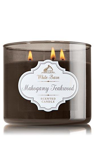 1 X Bath & Body Works Mahogany Teakwood Scented Candle 14.5 Oz – 3 Wick